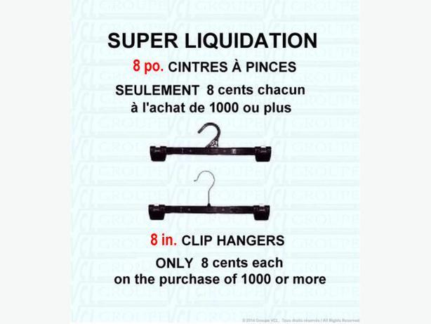0.08$ - SUPER LIQUIDATION ~ 8 cents chacum ~ 8 po. CINTRES À PINCES