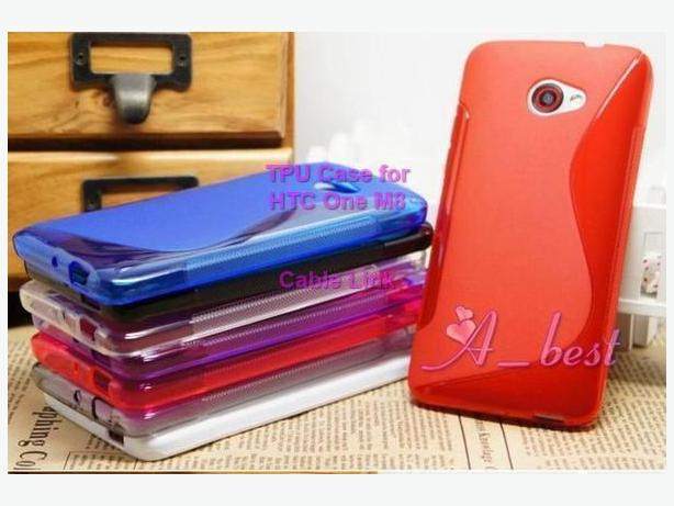 Multi Color S line TPU Case For HTC One 2 M8