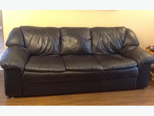 log in needed 250 black leather sofa chair and ottoman 250
