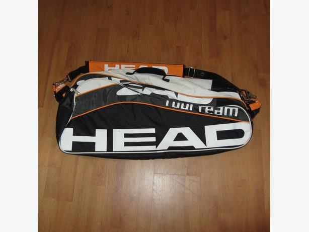 HEAD LIKE NEW 6-7 TENNIS RACQUET  DUAL SHOULDER STRAP BAG
