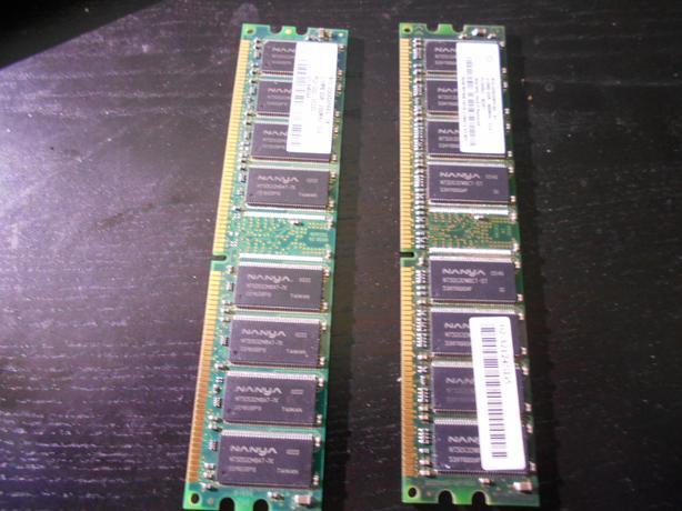 2 x 512mb ddr memory