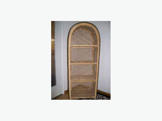 Shelve Wicker Bamboo 4 Shelve Stand