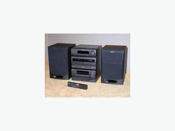 Sony Mini Hi-Fi System 5CD & 2BL Cassette Stereo