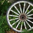 Vintage Antique Wooden  Carriage Wheel