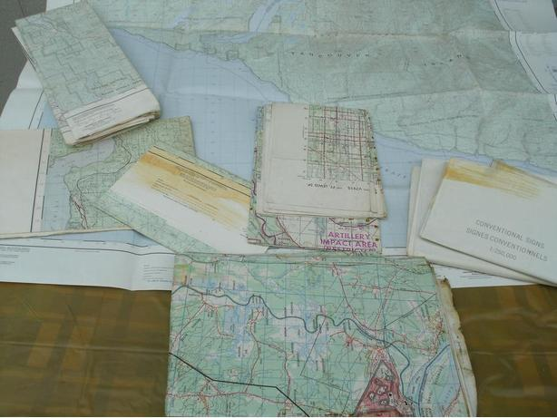 variety on collectible Maps of BC / CND / U.S.A / Germany etc