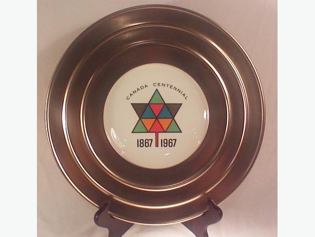 Georgian China Canada Centennial plate
