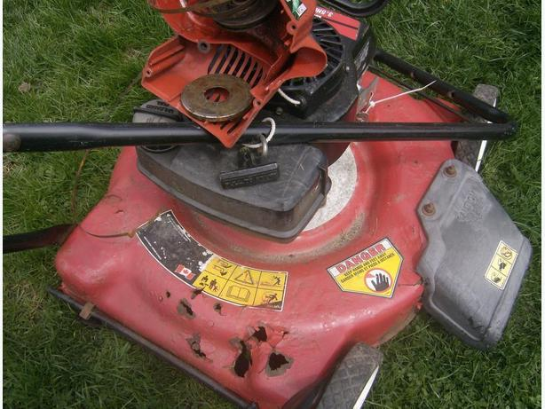free pick up any lawnmower or gas