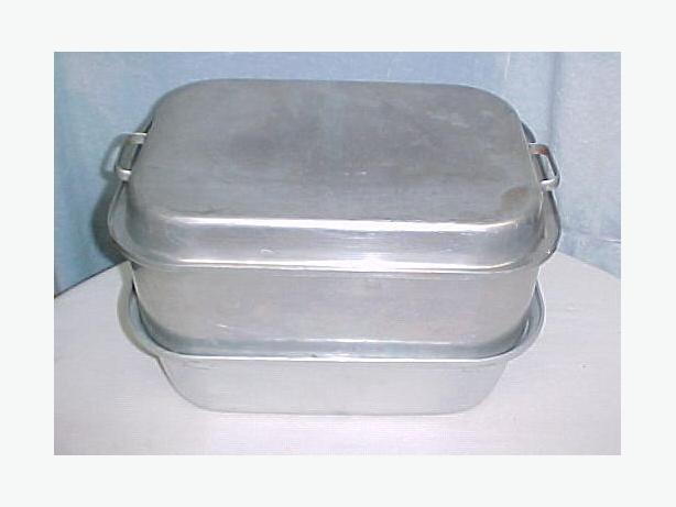 Vintage Large 5 Piece WEAR EVER Roaster Turkey Roasting Pan~Aluminum~