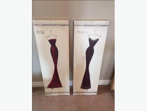 Vintage dress Canvases