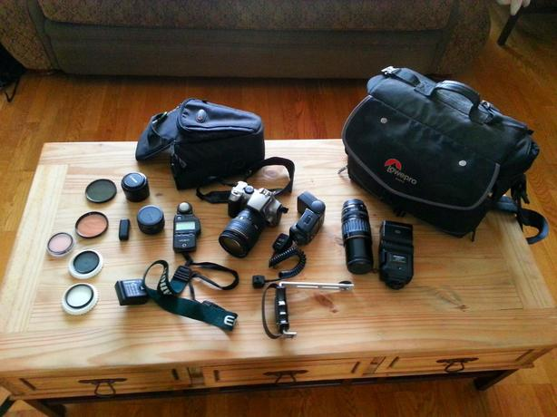 assorted photography gear for sale