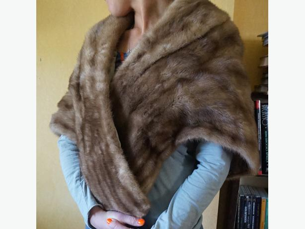 4u2c VINTAGE MINK FUR STOLE WITH INSIDE POCKETS