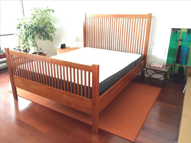 Beautiful mission style queen bed frame for sale vancouver - Used queen bedroom sets for sale ...