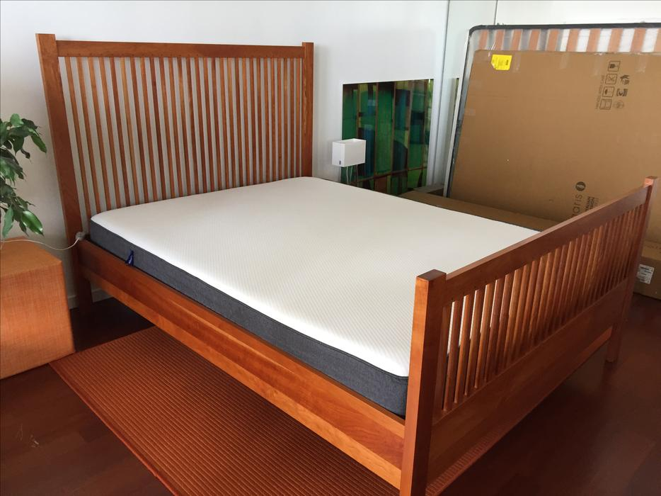 Beautiful mission style queen bed frame for sale vancouver for Mission style bed frame plans