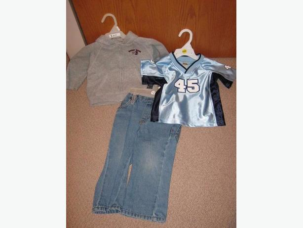 3 boys clothing items in size 18 months for one price.