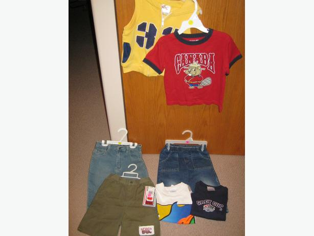 6 boys clothing items in size 24 months & size 2  for one price