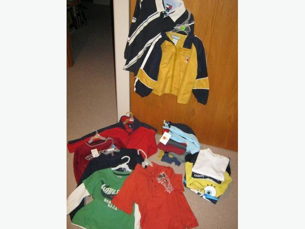 22 pieces of boys size 4 clothing for one price