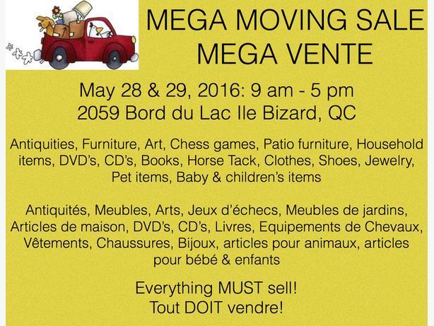 Mega moving sale mega vente de d m nagement montreal montreal for Mega meuble montreal