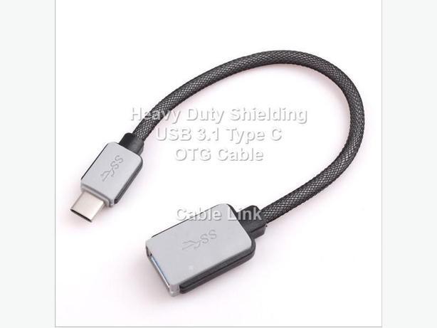 Premium Heavy Duty Shielding USB 3.1 Type C OTG Adapter Cable