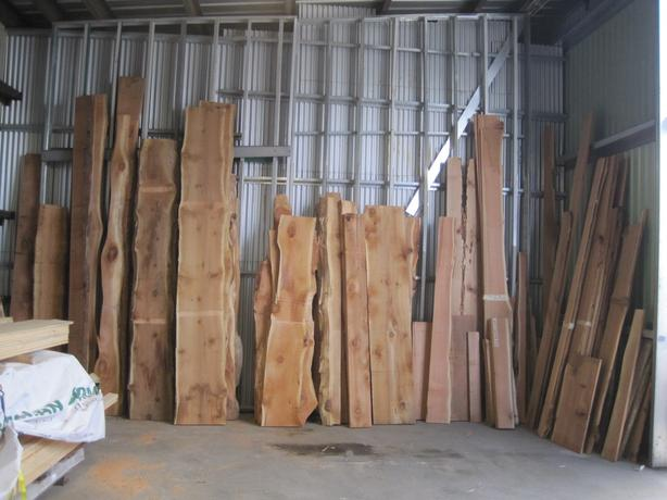 Overstock Sale: Live Edge Cedar Slabs and Plank