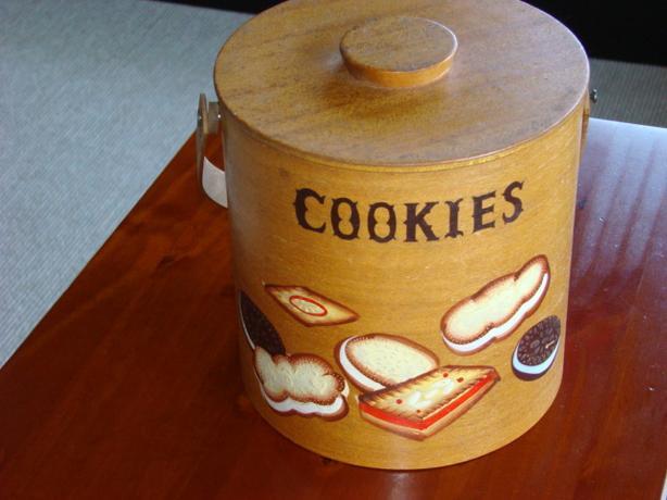 Vintage Teak Mid Century Cookie Jar