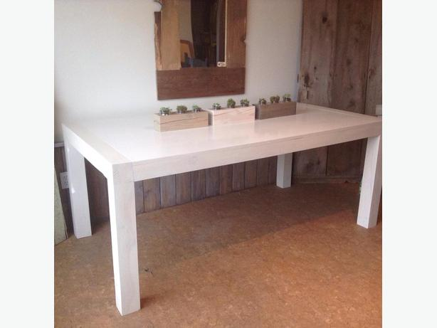 NEW Solid Fir Urban Chic White Washed Okanagan Harvest Table