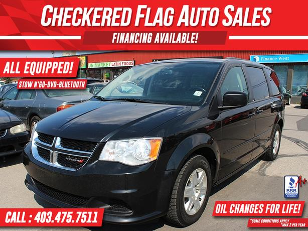 2012 Dodge Grand Caravan SXT W/ Stow & Go-DVD