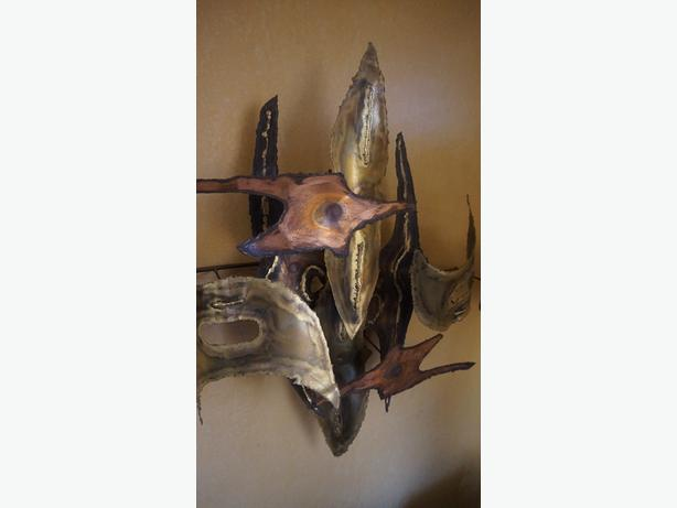 4U2C VINTAGE BRUTALIST COPPER WALL ART