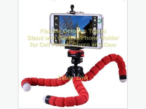Flexible Octopus Tripod Holder Mount Set For Gopro, Cam, Phone
