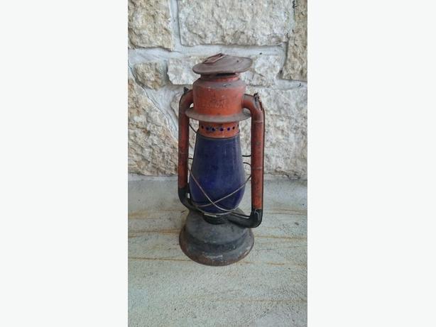 Beacon Lantern with Blue Glass