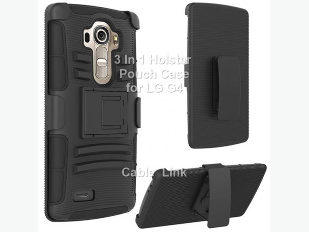 Premium Armor Rugged Hybrid Holster Case for LG G4