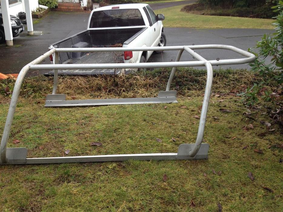 Aluminum Boat Racks : Over canopy truck rack outside nanaimo parksville