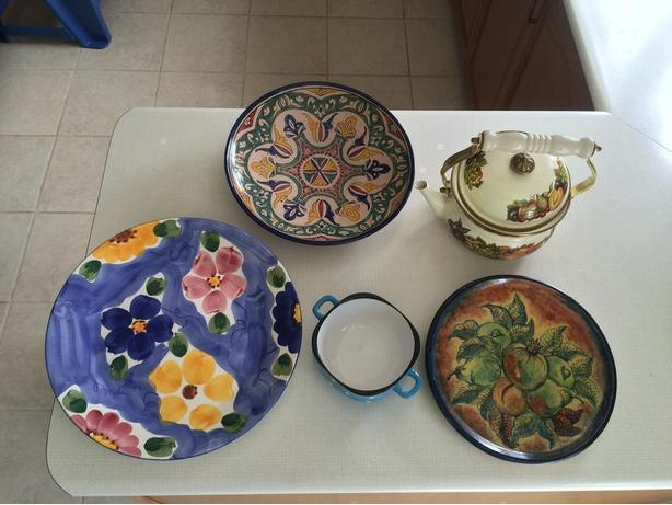 Decorative Plates and Tea Pot