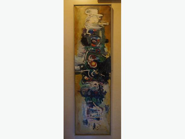 4u2c FABULOUS ABSTRACT ART MID CENTURY PAINTING 74 inches