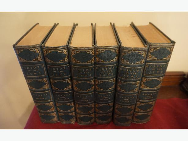 4u2c ANTIQUE SET HISTORY OF THE JEWS by PROFESSOR H, GRAETZ