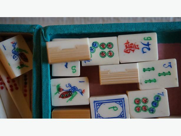 4u2c VINTAGE MAHJONGE GAME SET IN CASE