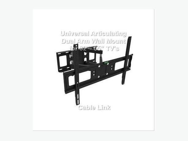"Universal Articulating Dual Arm Wall Mount for 32""- 65"" TV's"