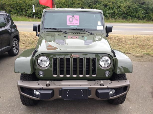 Green 2016 Jeep Wrangler Sahara 75th Anniversary Outside