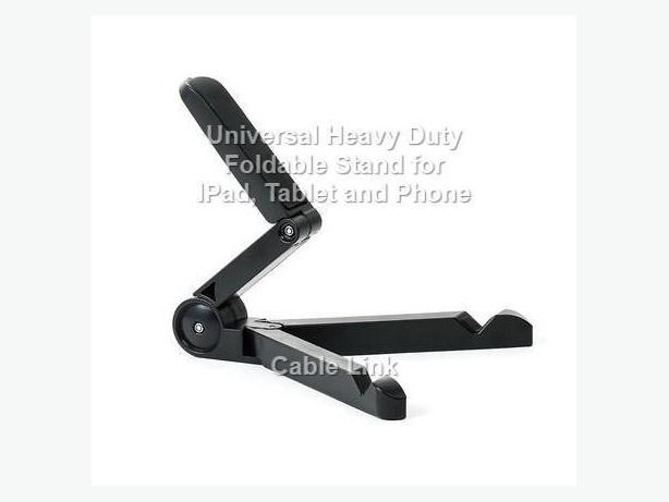 Universal Foldable Tablet Stand with Multiple Viewing Angles
