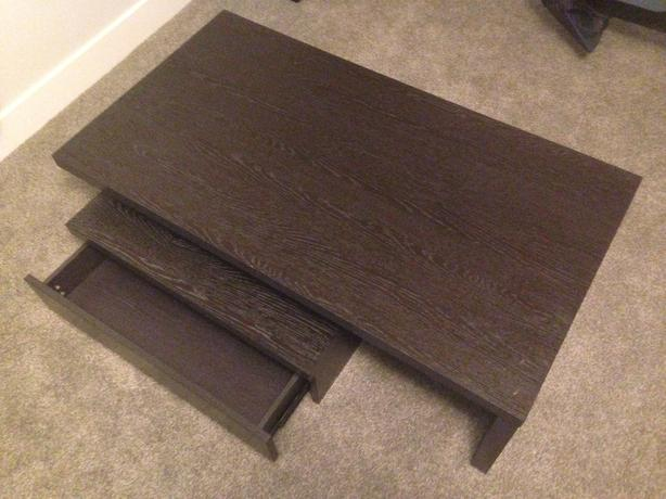 Black coffee table with drawers two pieces vernon okanagan for Coffee tables kelowna