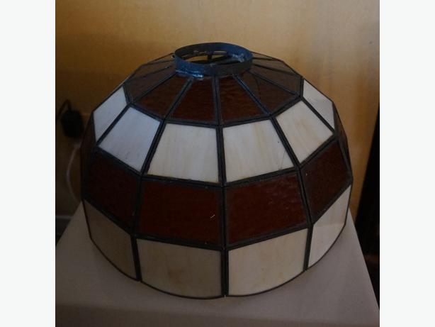4U2C ANTIQUE LEAD GLASS FLOOR LAMP LIGHTING SHADE