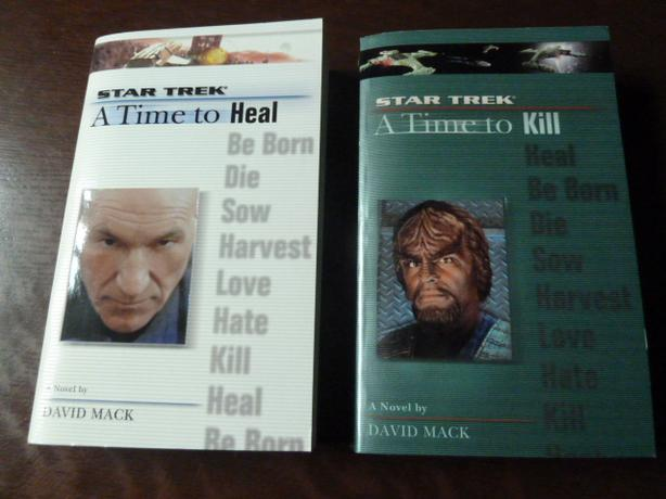 2 Paperback STAR TREK books