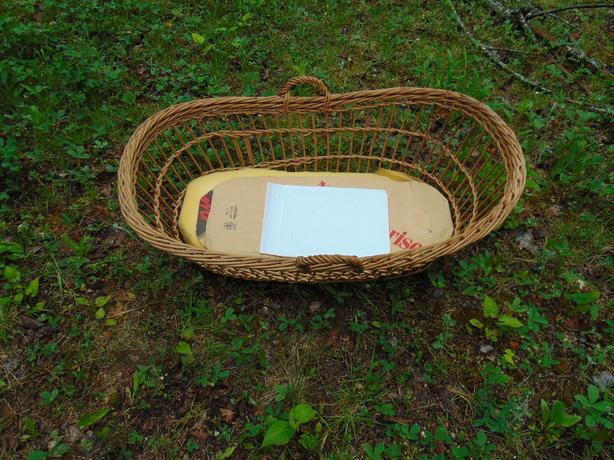 BABY MOSES BASKET ( NATURAL BEIGE )