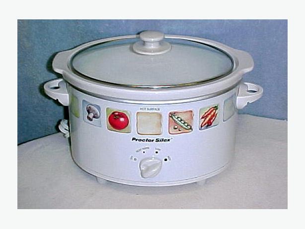 Proctor-Silex Proctor Silex Oval 4 Quart Slow Cooker Crock Pot~White