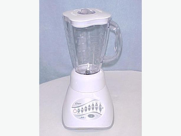 White Oster Blender~Model 6800~14-Speeds~Chops Ice~Like New