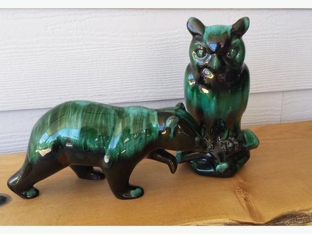 Blue Mountain Pottery Bear and Owl