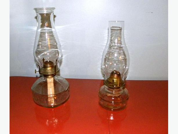 VINTAGE/ANTIQUE  HURRICANE  LAMPS