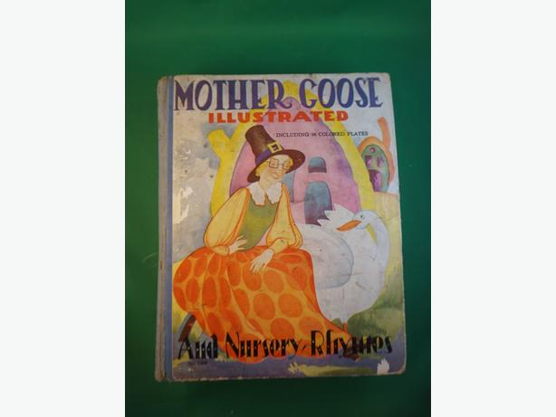 4u2c VINTAGE 1935 MOTHER GOOSE AND NURSERY RYMES BOOK