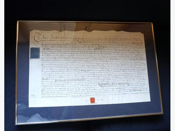 4U2C ANTIQUE FARMLAND DEED CONTRACT, GREAT BRITAIN