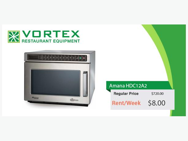 "Amana HDC12A2 1200 Watts Heavy Duty Commercial Microwave Oven ""Used"""