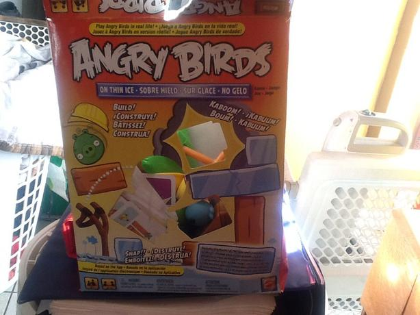Angry birds game on thin ice